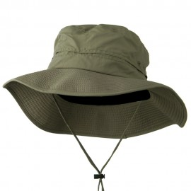 Big Size Inner Side Mesh Talson UV Bucket Hat - Olive