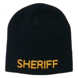 Sheriff Military Embroidered Beanie