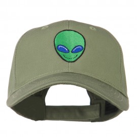 Smiley Alien Embroidery Cap