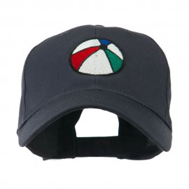 Summertime Beach Ball Embroidered Cap - Navy