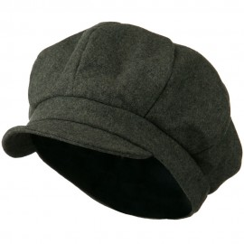 Men's Soft Brim Newsboy Cap with An Adjustable Size Buckle Closure - Grey