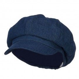 Big Size Cotton Newsboy Hat - Denim