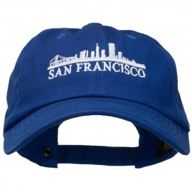 San Francisco Skyline Embroidered Washed Cap