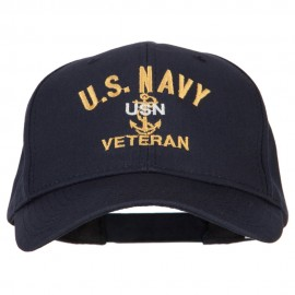 USN Veteran Military Embroidered Solid Cotton Pro Style Cap