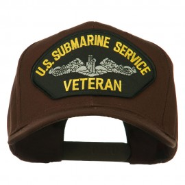US Submarine Service Veteran Military Patched High Profile Cap