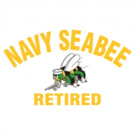 US Navy Seabee Retired Logo Heat Transfers Sticker