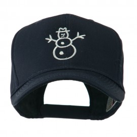 Christmas Snowman Outline Embroidered Cap