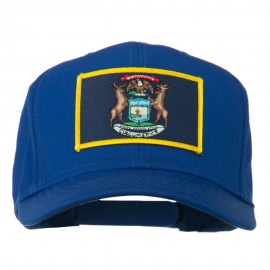 State of Michigan Embroidered Patch Cap