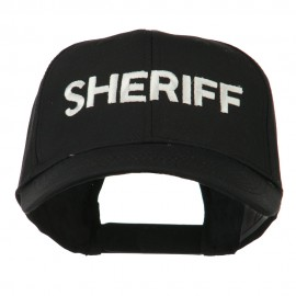 Sheriff Embroidered Low Profile Cap - Black