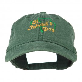 St Patrick's Day Clover Embroidered Cap