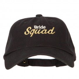 Glitter Bride Squad Embroidered Unstructured Washed Cap