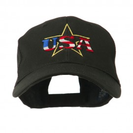 USA Logo with Star Embroidered Cap