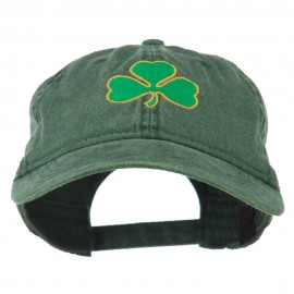 Shamrock Embroidered Washed Cap