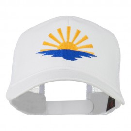 Sunrise Embroidered Mesh Back Cap