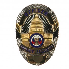 Security Stock Metal Badges