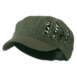 Army Cap with Studs
