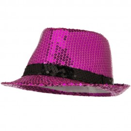 Shiny Sequin Fedora Hat