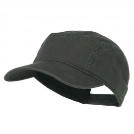 Solid Superior Square Crown Cap - Charcoal