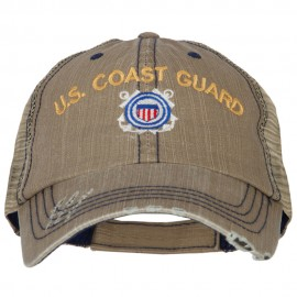 US Coast Guard Embroidered Low Profile Cotton Mesh Cap