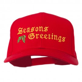 Seasons Greetings Embroidered Cap