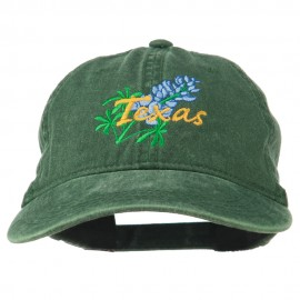 Texas State Bluebonnet Flower Embroidered Cap