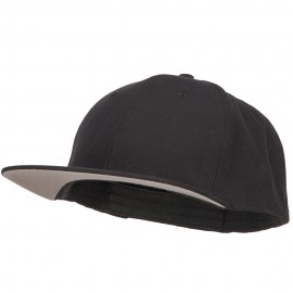 Big Size Flat Bill Stretchable Fitted Cap - Black