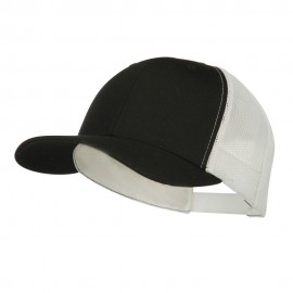 Contrast Trucker Cap - Black White
