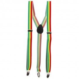 Color Striped Suspenders