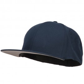 Big Size Flat Bill Stretchable Fitted Cap - Navy