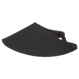 Fabric Foam Visor - Solid Black