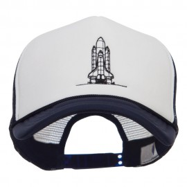 Space Shuttle Embroidered Foam Mesh Cap