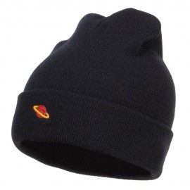 Mini Saturn Embroidered Long Beanie