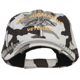 US Submarine Veteran Military Embroidered Enzyme Camo Cap