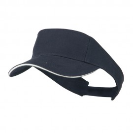 Brushed Cotton Twill Sandwich Visor