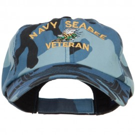 Navy Seabee Veteran Military Embroidered Enzyme Camo Cap