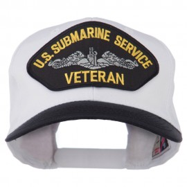 US Submarine Service Veteran Military Patched Two Tone High Cap
