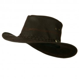 Orange Stitching Wash Cotton Cowboy Hat