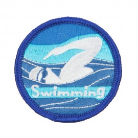 Swimming Embroidered Patches