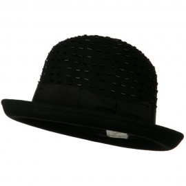 Solid Wool Felt Hat - Black