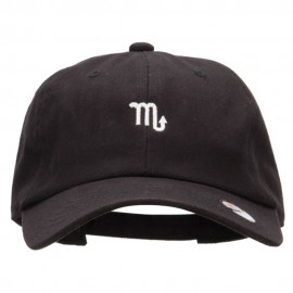 Scorpio Zodiac Sign Embroidered Unstructured Cap