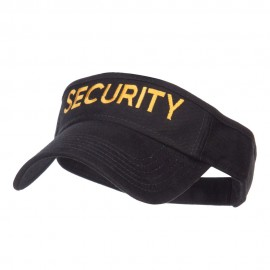 Security Embroidered Brushed Sun Visor