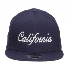 California Embroidered Cotton Snapback Cap