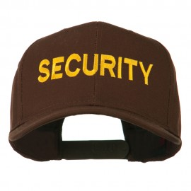 Security Letter Embroidered High Profile Cap