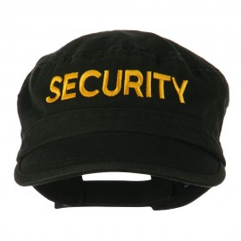 Security Embroidered Enzyme Army Cap