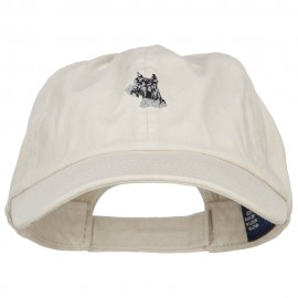 Schnauzer Dog Head Embroidered Low Cap