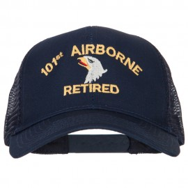 101st Airborne Retired Embroidered Solid Cotton Mesh Pro Cap