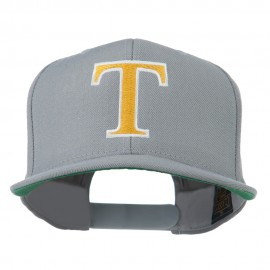 Greek Alphabet Tau Embroidered Cap - Grey