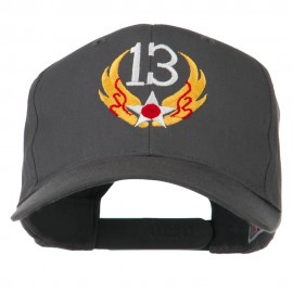 13th Air Force Badge Embroidered Cap - Charcoal