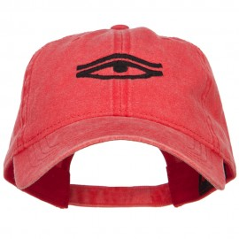 Eye That Sees All Embroidered Washed Dyed Cotton Cap