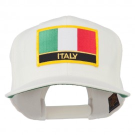 Italy Europe Flag Patched Flat Bill Cap